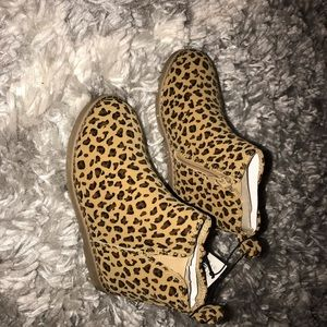 Toddler girl cheetah ankle boots